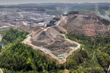 Mountain top removal. Source: Explore.org.