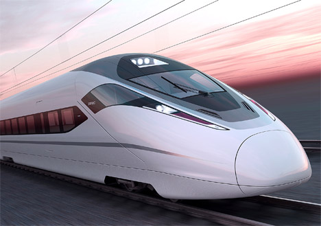 Chinese High-Speed Train. Source: Treehugger.com.