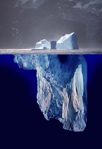 The tip of the iceberg. Source: Wikipedia.